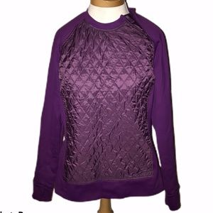 Title Nine quilted fitness outdoor pullover top M